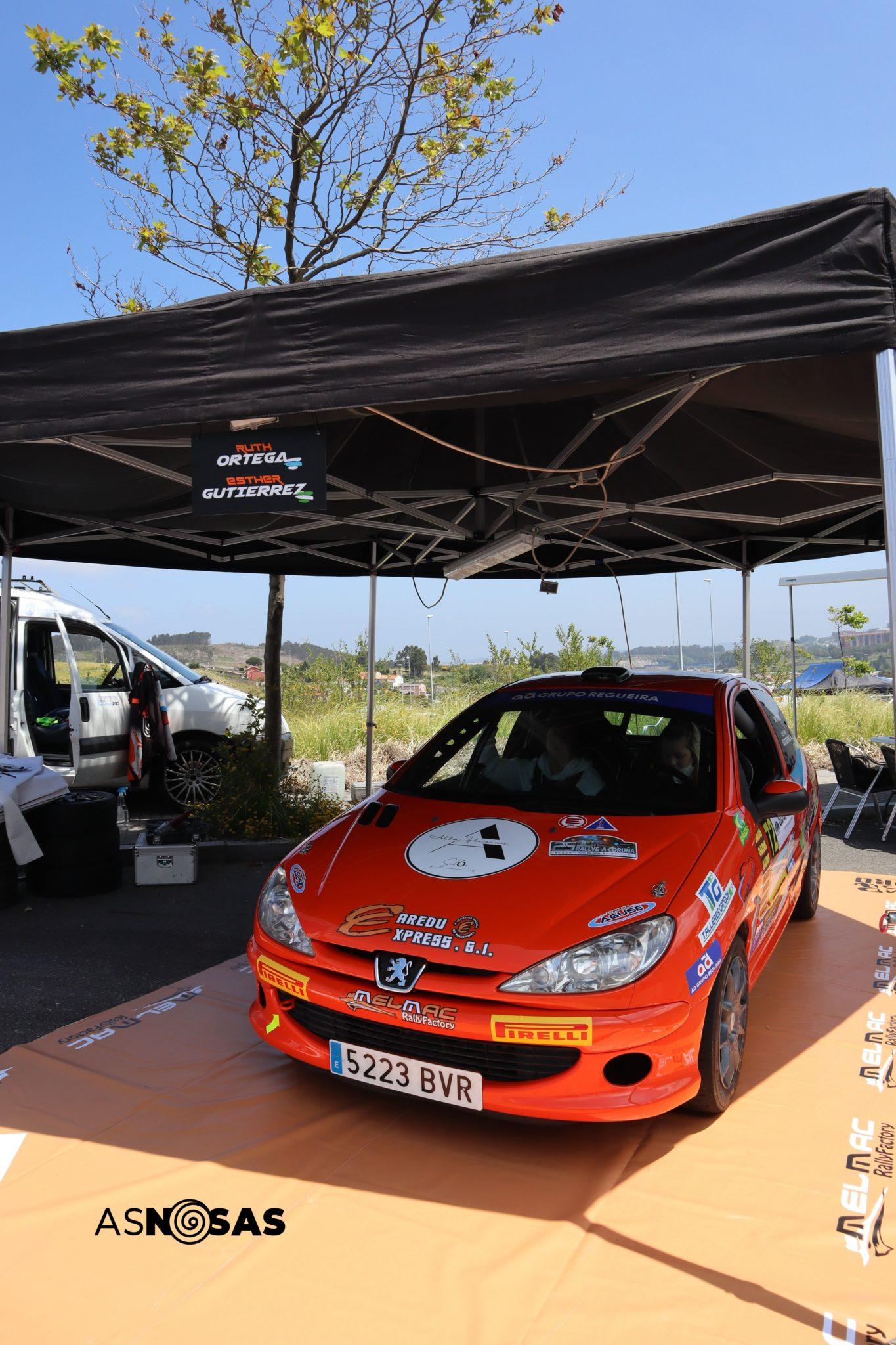 O coche do Melmac Rally Factory antes do 25 Rallye A Coruña / CARMEN G. MARIÑAS