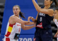 Raquel Carrera coa Selección Española - FEB