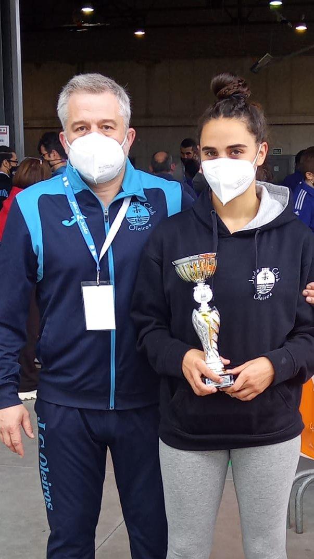 Sabela Lage é subcampioa de España de judo en -63 kg / JC Oleiros