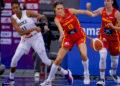 Tamara Abalde no partido Francia vs España / FEB