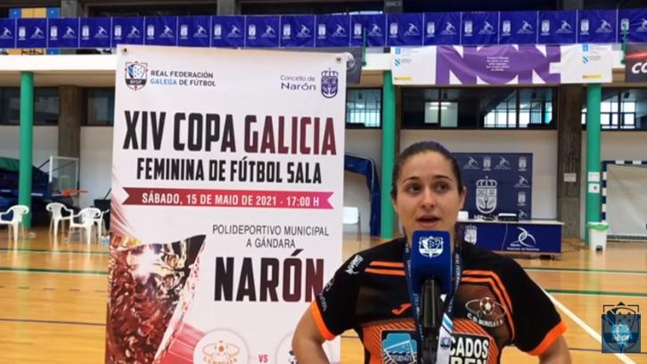 Ale de Paz, futbolista do Pescados Rubén Burela, na Copa Galicia / RFGF