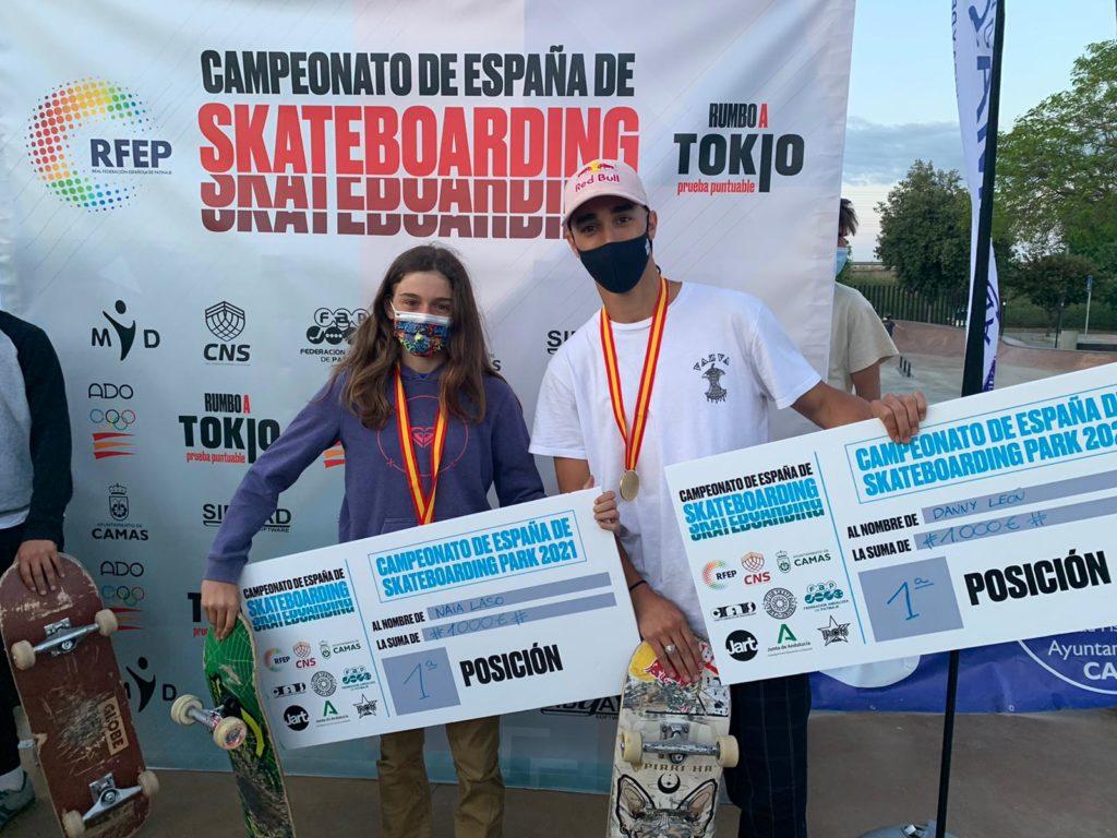 Danny León e Naia Laso se, campións de España de Park 2021 / RFEP