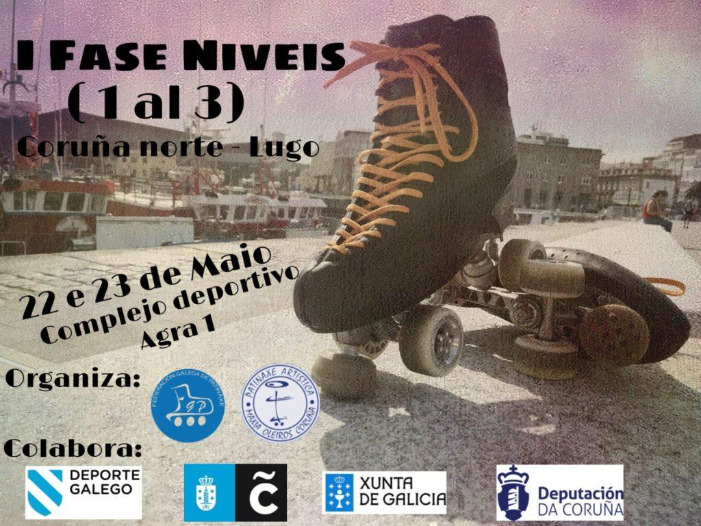 Fase de niveis de patinaxe artísitca 1 a 3 da Coruña norte na Coruña