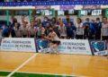 O Ourense Envialia recibe o trofeo de subcampioas da Copa Galicia de Fútbol Sala Feminino / RFGF