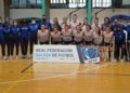 Formación do Ourense Envialia na Copa Galicia de Fútbol Sala Feminino / RFGF