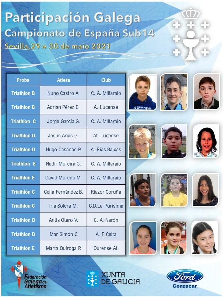 Unha ducia de representantes galegos acuden ao estatal Sub-14 de atletismo / FGA
