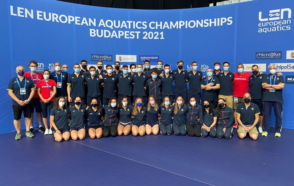 A natación española compite en Budapest 2021 con 27 deportistas, María de Valdes está entre eles / RFEN