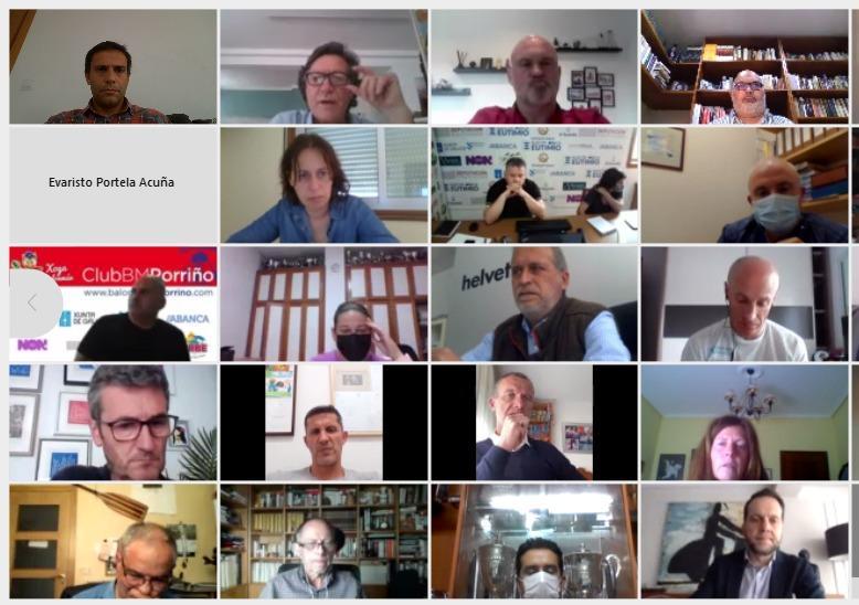 Reunión de Lete Lasa cos clubs do Plan de Patrocinio Publicitario dos Equipos de Alta Competición de Galicia 2021 da Fundación Deporte Galego / XUNTA DE GALICIA