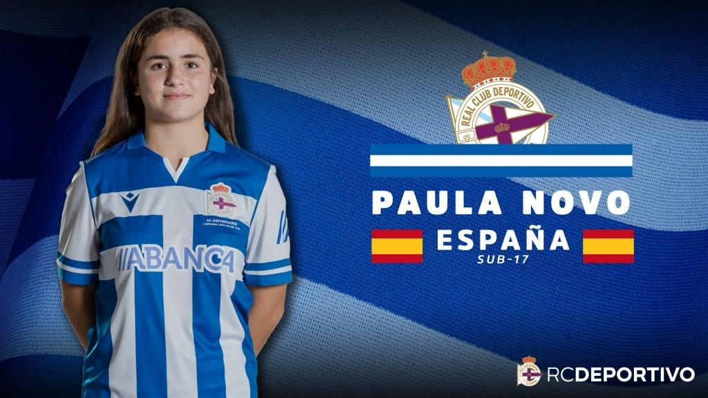 A futbolista do Dépor ABANCA B, Paula Novo, convocada coa Sub-17 española / RCD