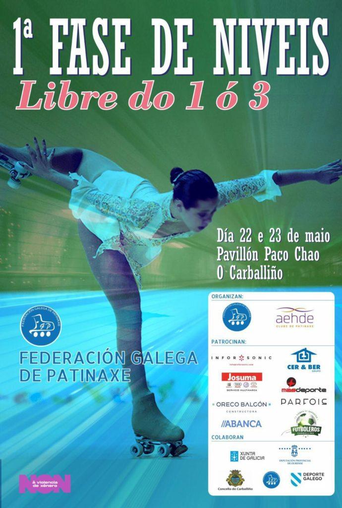 Fase de niveis 1 a 3 da Pontevedra de patinaxe artística