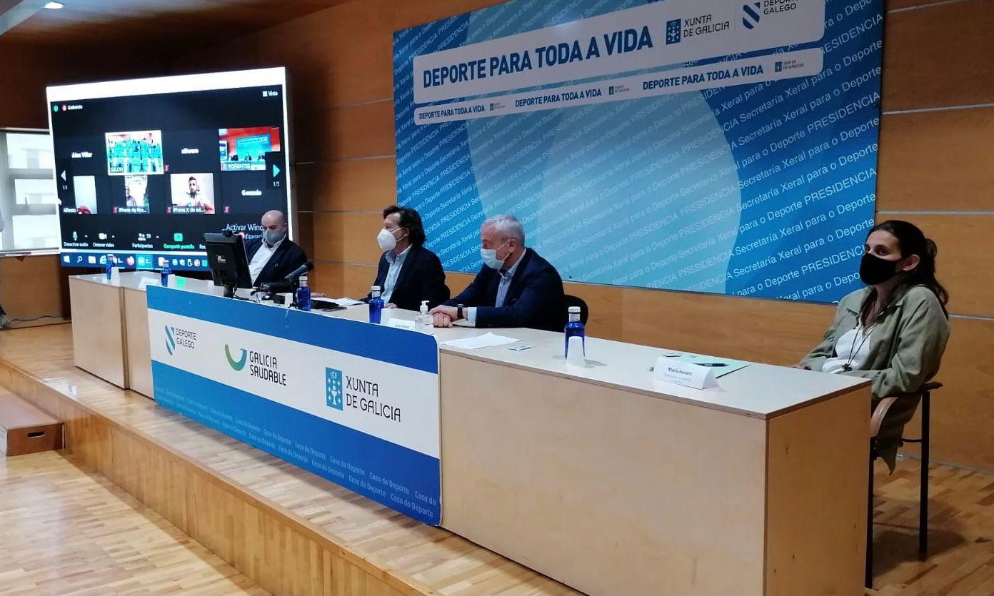 Acto na Casa do Deporte de Vigo sobre a xestión deportiva da pandemia de COVID-19 / SECRETARÍA XERAL PARA O DEPORTE