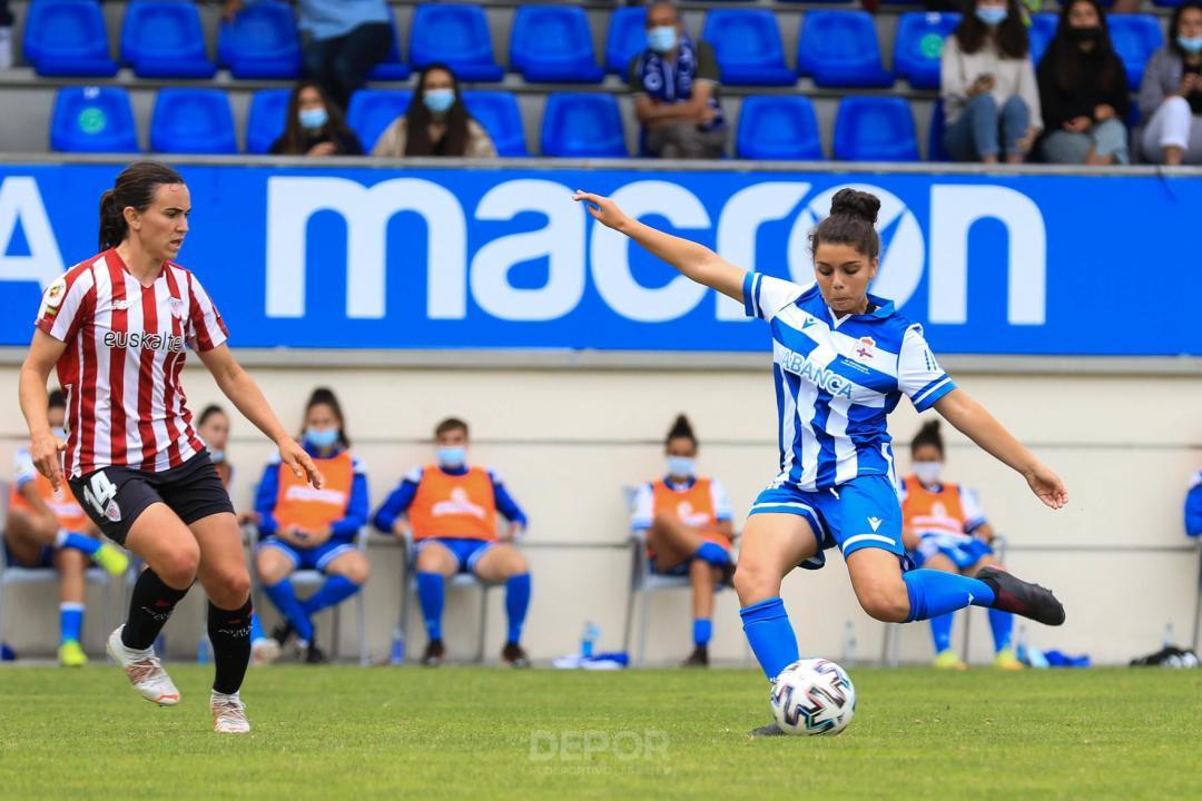 Debut da capitá da Selección Galega sub15, Marta Rico, co Dépor ABANCA en Primera Iberdrola / RCD