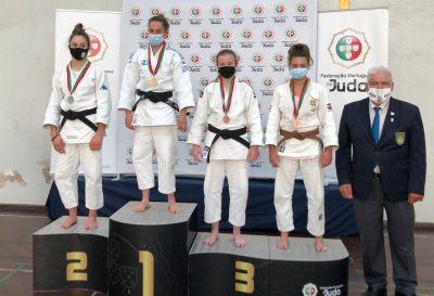 Inés Villahoz e Belén Ferreiro, ouro e bronce nos 52 kg da Cadet International Cup de Coimbra / FG JUDO