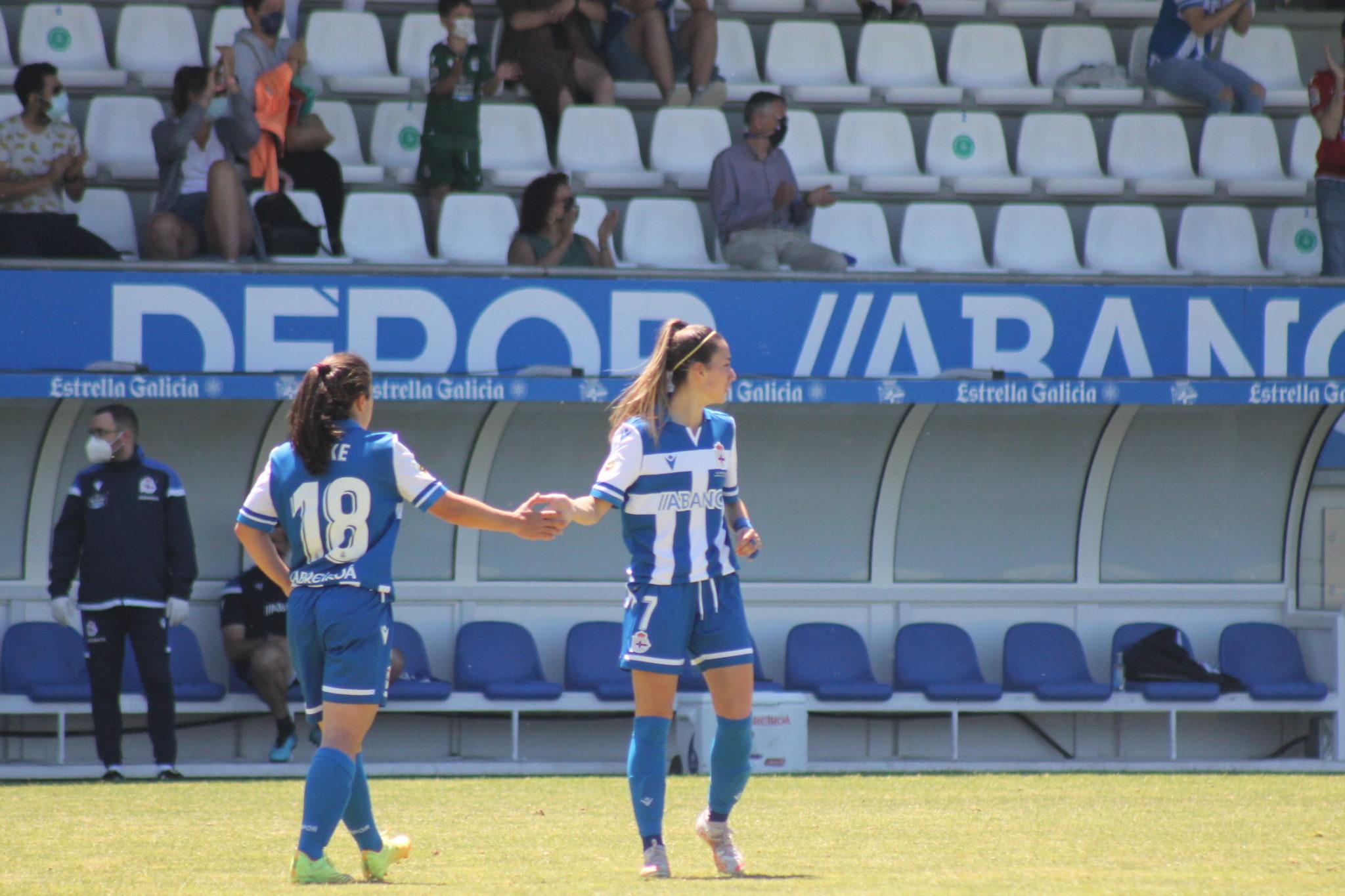 O dúo Peke e Athenea foi protagonista no ataque do Dépor ABANCA ante o Granadilla Tenerife / CARMEN G. MARIÑAS