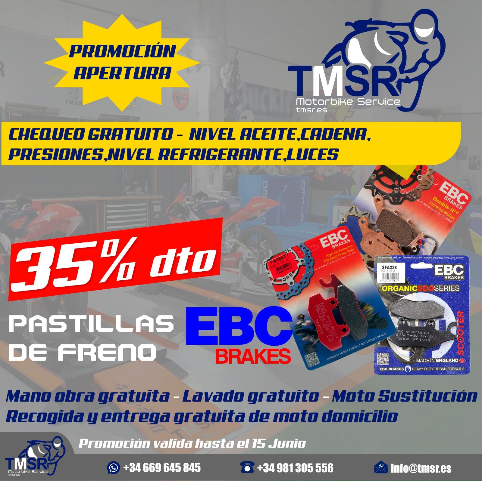 PUBLICIDADE - PROMOCION EN PASTILLAS DE FRENOS PARA MOTOS EN TMSR MAYO 2021