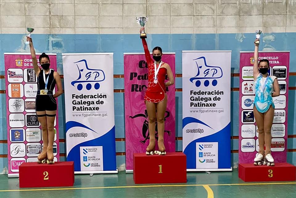 Podio cadete no Campionato Galego Libre Nacional de patinaxe artística / AGORA