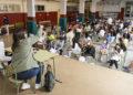 Esther Sullastres conversou co alumnado do CEIP San Marcos no ciclo Matriarcas / CONCELLO DE ABEGONDO