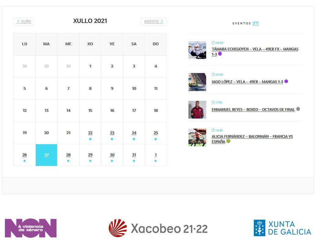 Web Galicia Olímpica