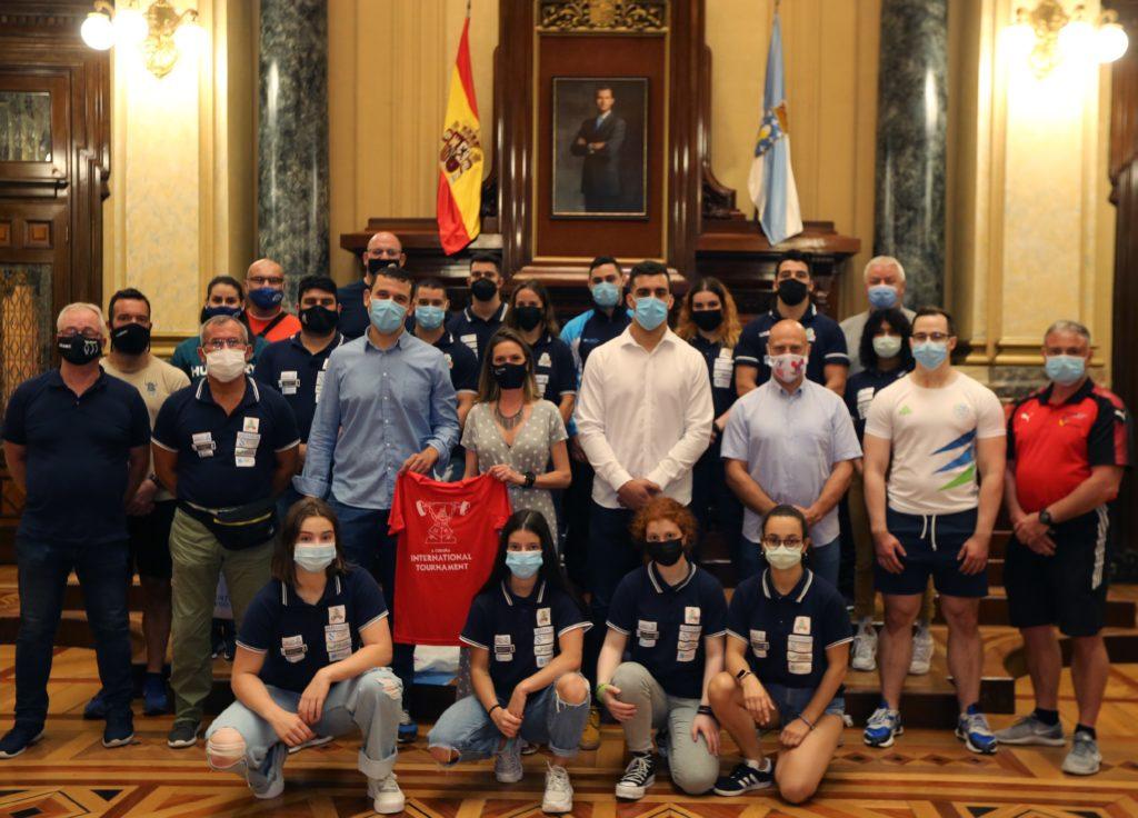 Participantes no XXIV Trofeo Internacional de Halterofilia Cidade da Coruña / CONCELLO DA CORUÑA