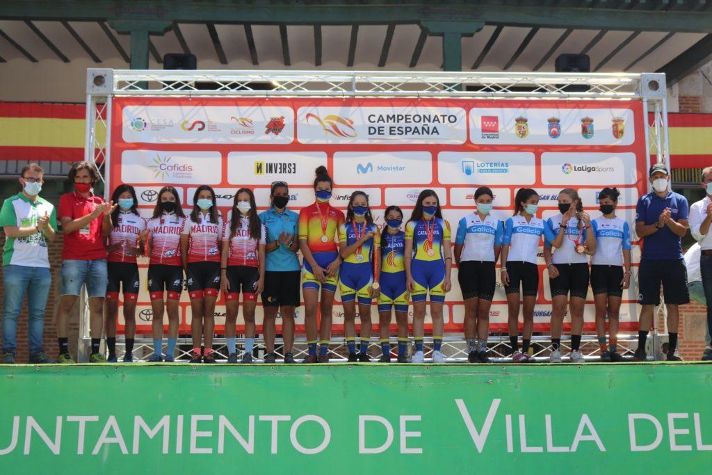 A Selección Galega infantil acadou o bronce feminino no Campionato de España Escolar BTT / FEDERACIÓN GALEGA DE CICLISMO