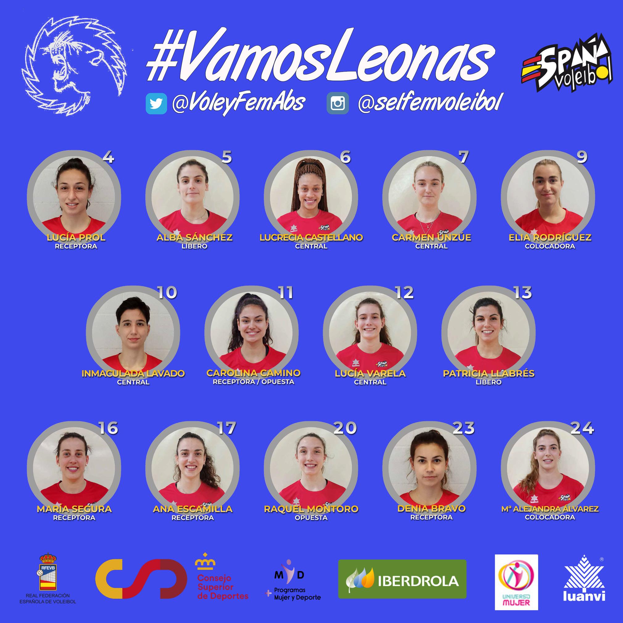 As 'Leonas' da Seleccion Española de volei / RFEVB