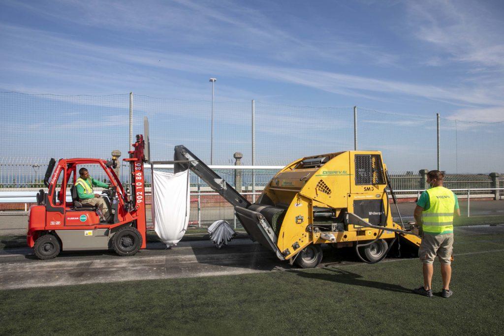A Coruña inicia as obras de renovación do céspede dos Campos da Torre Arsenio Iglesias / CONCELLO DA CORUÑA