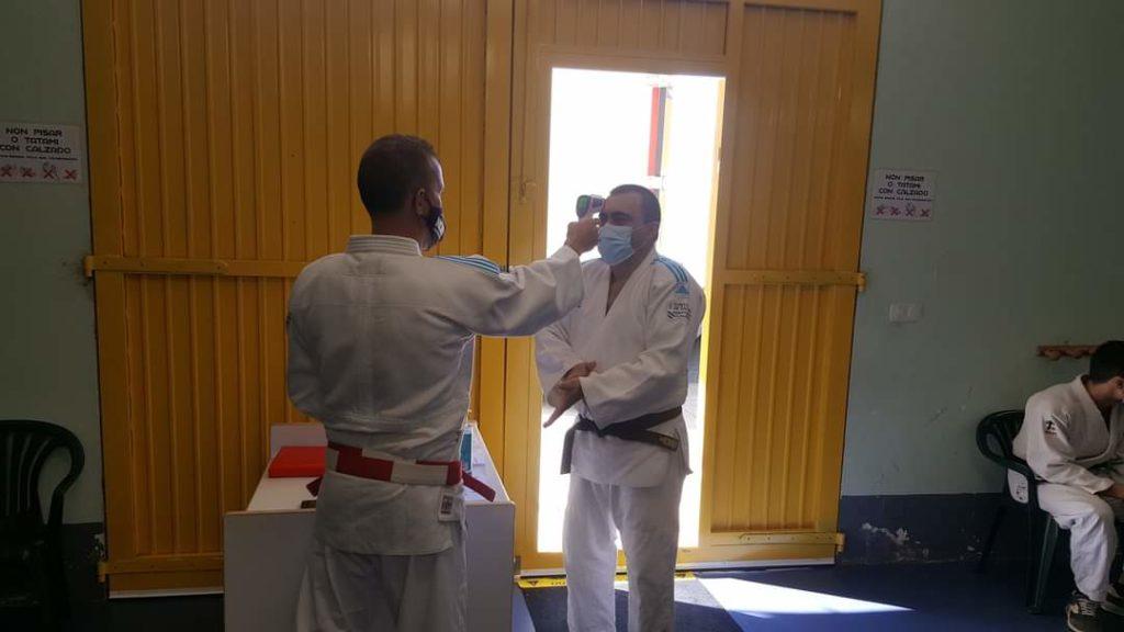 Imaxe de arquivo de exames de cinto do ano pasados na AD Judo Ferrolterra, seguindo o protocolo COVID/ AD JUDO FERROLTERRA