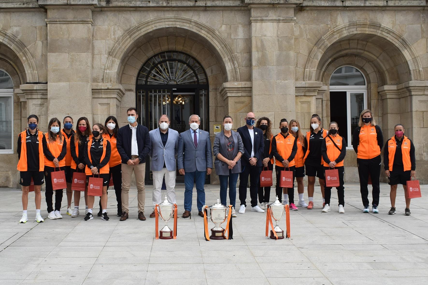 A Deputación de Lugo homenaxea ás Guerreiras / BURELA FS
