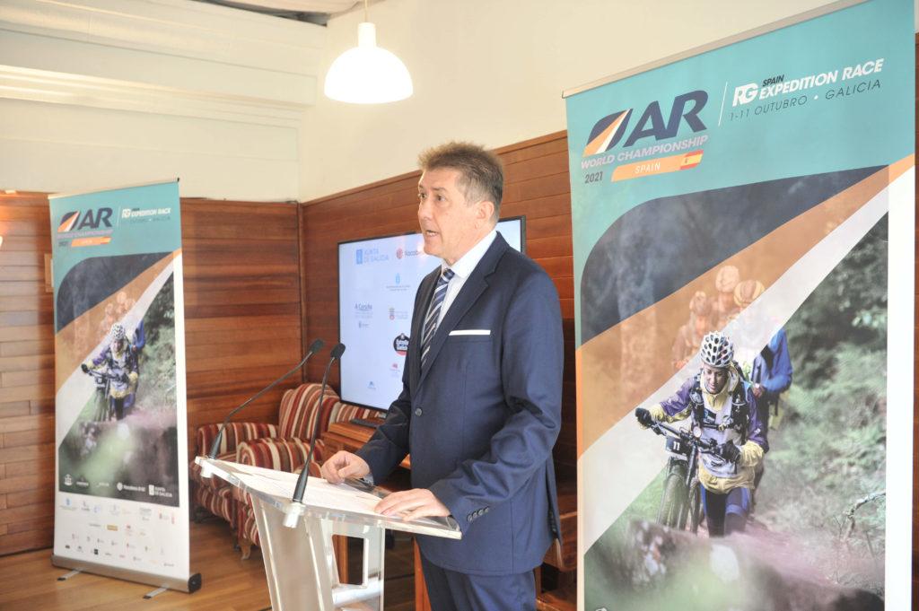 O concelleiro de Turismo, Juan Ignacio Borrego, na presentación da Raid Gallaecia-AR World Championship 2021 / CONCELLO DA CORUÑA