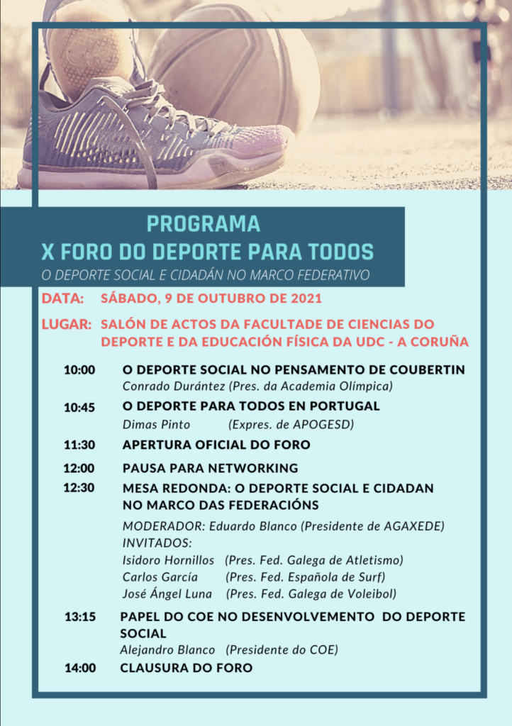Programa do X Foro Deporte para todos